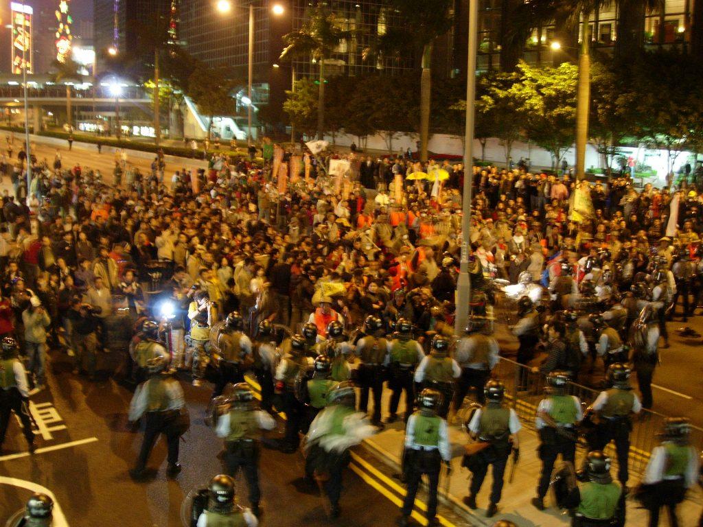 Protesters hong kong