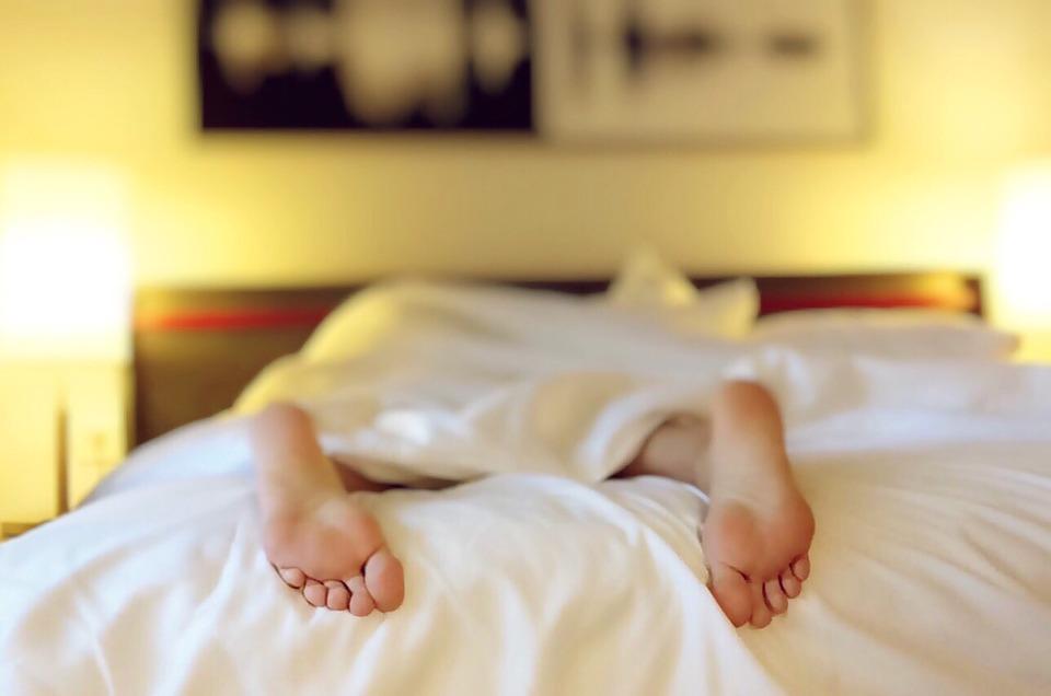 sleeping feet