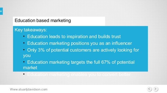 education marketing