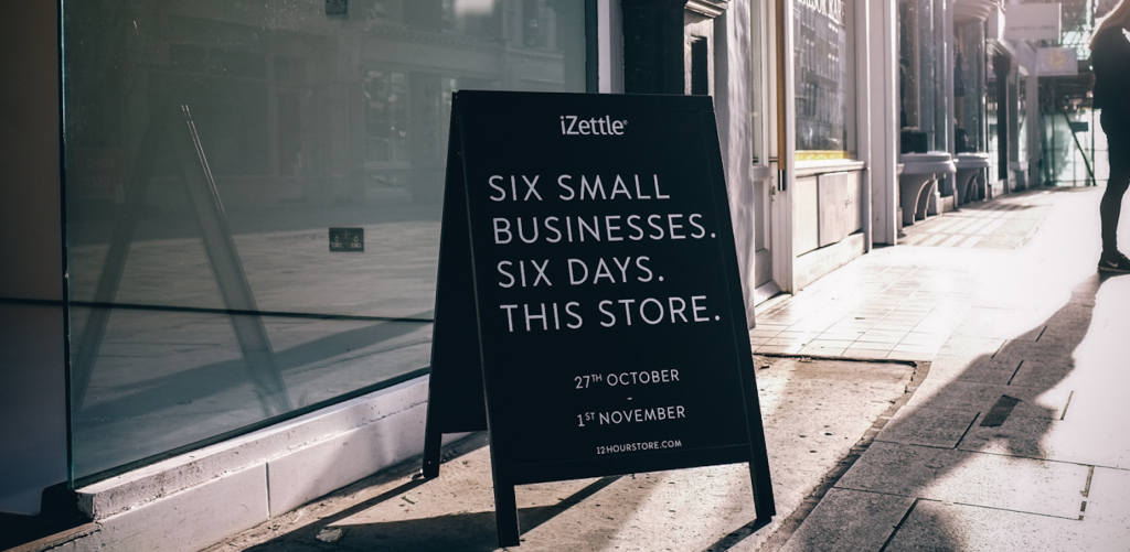 iZettle start up 6 businesses