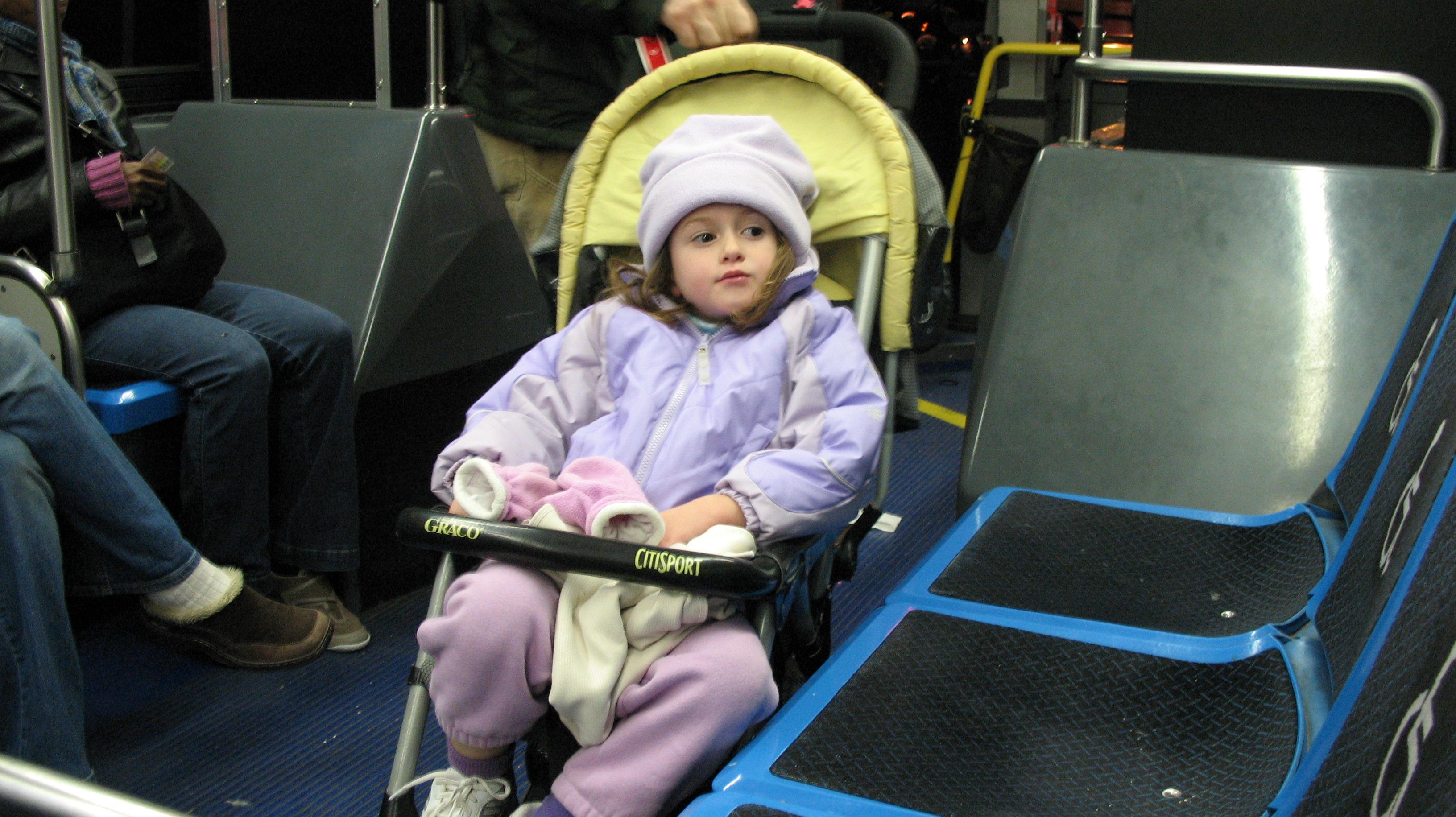 strollers in bus
